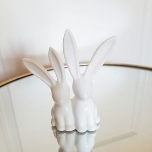 White Bunny Duo Ring Holder